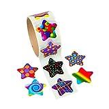 Funky Star Sticker Rolls (100 Stickers Per Roll, Shrink-Wrapped)