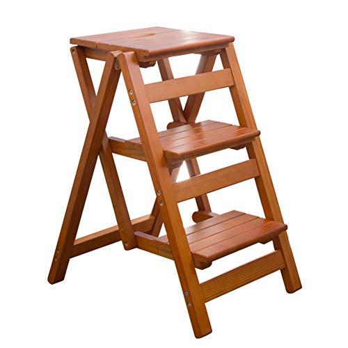 ZXCVBY Stap Ladder Vouwstoel - voor Opslag En Decoratie Multi Functie Houten Ladder Kruk Plank - Bibliotheek Stappen Boekenplank Plant Stand