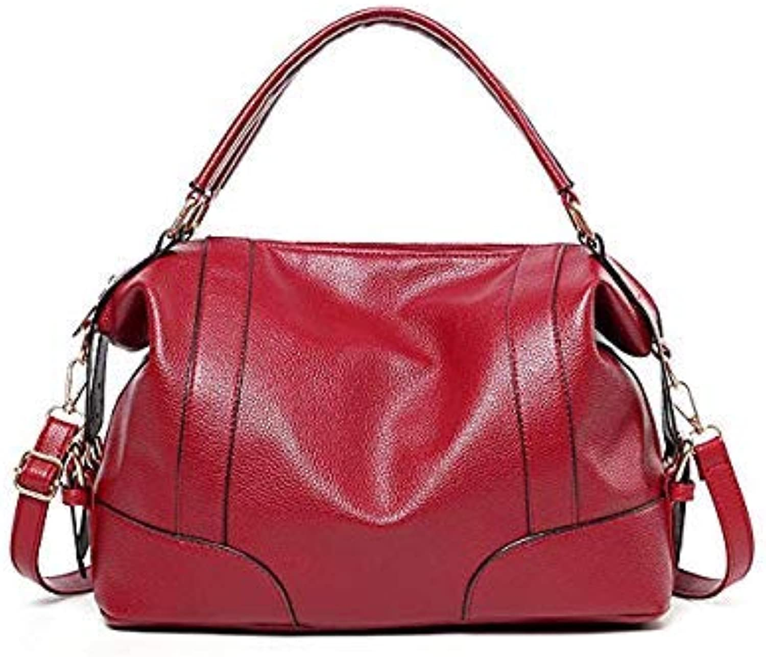 Bloomerang Casual Women Handbags Totes Ladies Shoulder Bags Top-Handle Bags Fashion High Quality PU Leather Large Capacity 2e3284 color Red