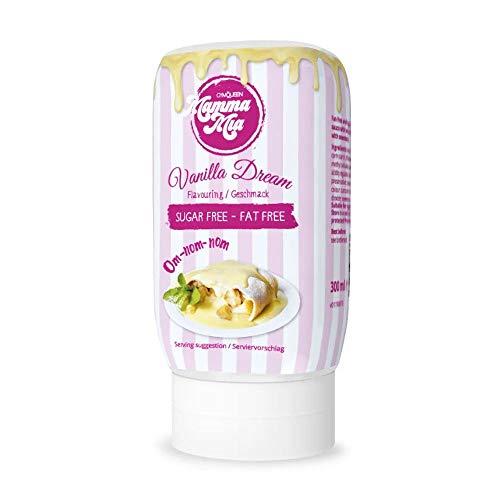 GymQueen Mamma Mia Zero Sauce | kalorienarm, ohne Fett & ohne Zucker | Zum Verfeinern von Gerichten und Nachspeisen | vegetarisch und laktosefrei | Vanilla Dream Soße (Vanille-Sauce)
