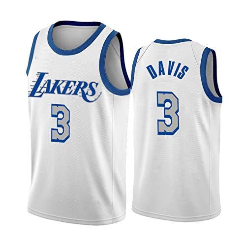 GHJK Kobe Bryant 24# Lebron James 23# Anthony Davis 3# 2021 - Camiseta de baloncesto de Los Angeles Laker para fans de fútbol, de secado rápido, camiseta de baloncesto Davis 3# XL