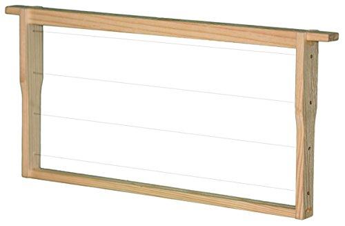 30 Zander Rähmchen / Rahmen MODIFIZIERT Hoffmann-Seiten LINDENHOLZ fertig montiert waagerechte Drahtung, Europa- Qualität, mit Edelstahldraht und Messingösen 477 x 220 mm