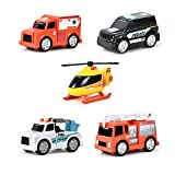 Sunny Days Entertainment Micro Mini City Vehicles – Toy Car and Truck Set for Kids   Birthday Party Gift for Boys – Maxx Action
