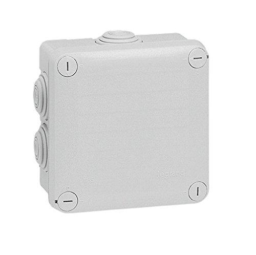 Legrand 092022 Boîte de Dérivation Carrée Plexo, Dimensions 105mm x 105mm x 55mm, Gris
