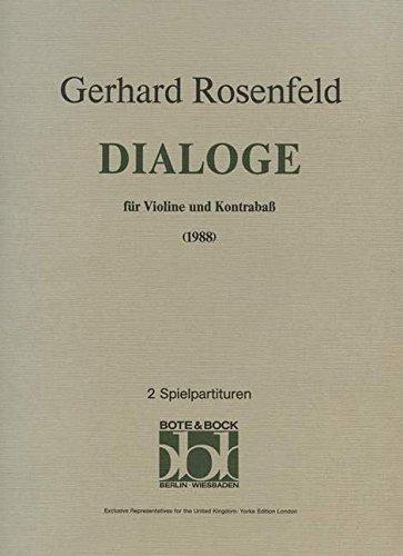 Dialog (1988). Partituras para Contrabajo, Violín