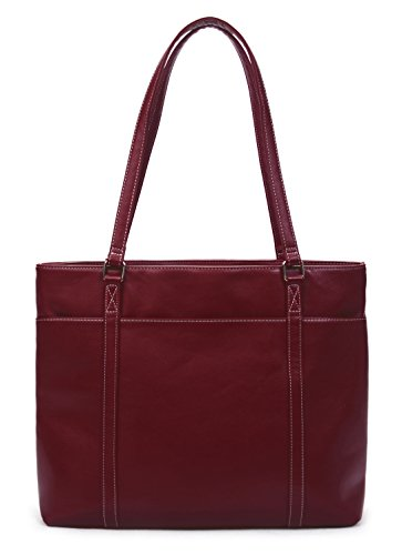 Overbrooke Classic Laptop Tote Bag - X-Large Vegan Leather Womens Shoulder Bag for Laptops up to 15.6 Inches