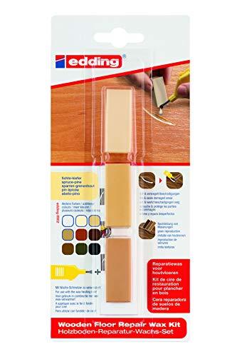 edding 4-8902-1-4609 Holzboden-Reparaturwachs-Set 8902 DIY, fichte-kiefer