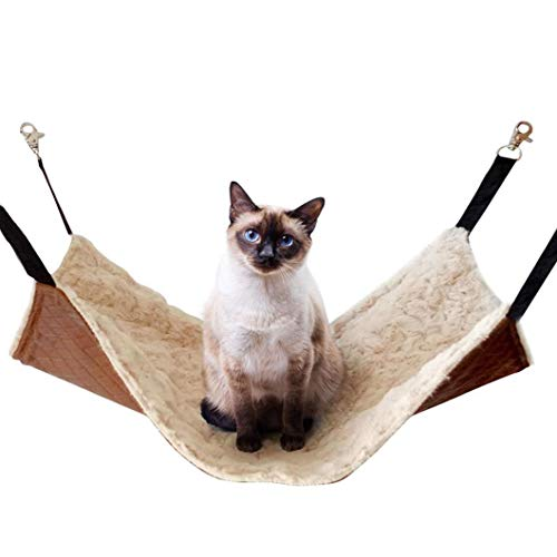 JOYELF Large Cat Hammock Bed Pet Cage Hammock, Hanging Soft Pet Bed for Kitten Ferret Puppy or Small Pet
