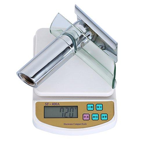 Auralum Wasserhahn Glas Spüle Waschtisch Waschtischarmatur Armatur für Bad - 5