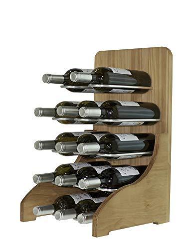 Expovinalia wijnrek, voor 14 flessen, hout, eiken, 55 x 30 x 32 cm