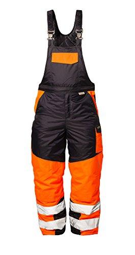 Elysee Warnschutz Latzhose FLORIAN, Wind-& Wasserdicht, marine/orange, Größe: XL