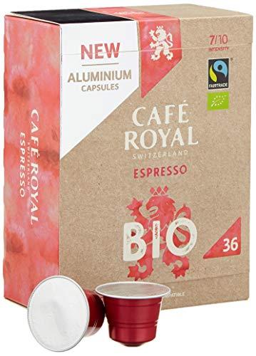 Café Royal Espresso Bio 36 Nespresso®* kompatible Kapseln aus Aluminium, Intensität 7/10