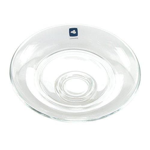 Leonardo Senso Large Saucer Saucer Glass Saucer, Glass, D 14.5 cm Trivet, 24015