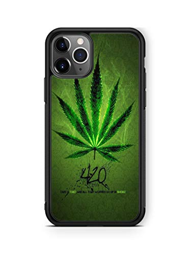 Deal Market LLC -Marijuana Weed Cannabis - Hard Rubber Phone Compatible with Samsung Galaxy S21 + Plus (6.7 Inch 2021 Model) Made and Shipped from The USA.
