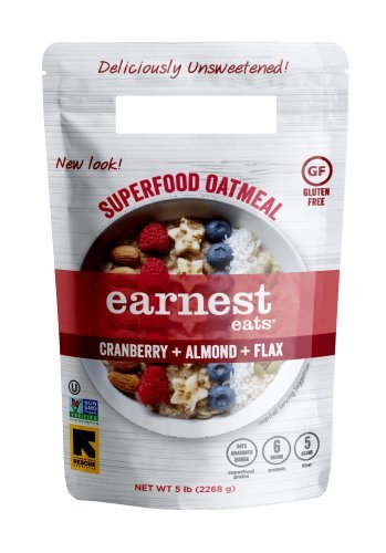 Earnest Eats Gluten-Free Superfood Oatmeal, Quinoa, Oats & Amaranth, Vegan, Healthy Snack, American Blend, 5lb Resealable Bag
