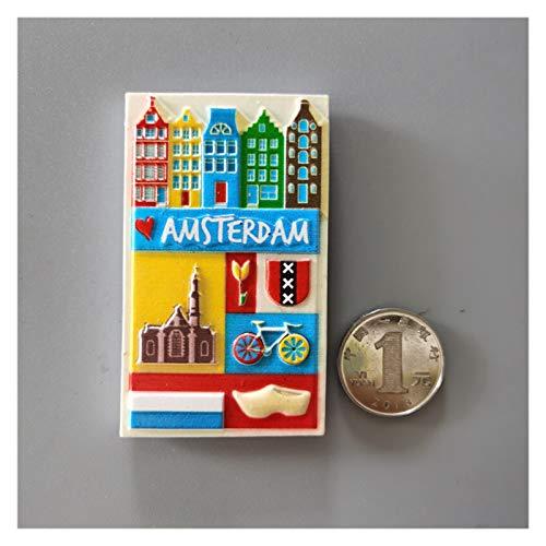 Fyftwh Imán de refrigerador Pegatinas de refrigerador (Color : Amsterdam)