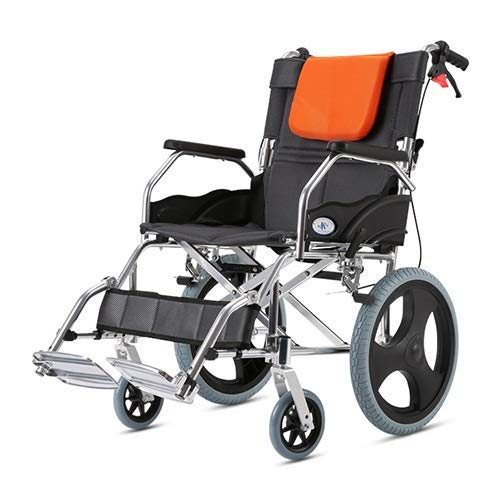 SYue Wheelchairs,Transport Wheelchair With Handbrakes Folding Ultra-Light Portable Drive Wheelchair Fit Elderly Disabled For Easy Transfer 16 Inches Rear Wheel