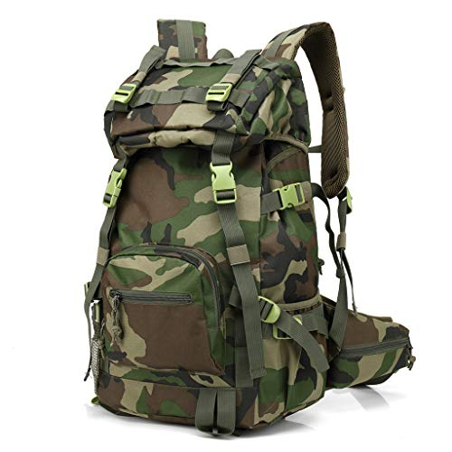 XTAYNE Camouflage Mountain Climbing Bag Waterproof Wear Resistant Men and Women Fashion Trend Package Travel Army Fan Outdoor Hiking Camping Sports Backpack
