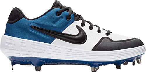 Nike New Mens Alpha Huarache Elite 2 Low Metal Baseball Cleats White/Blue 7M