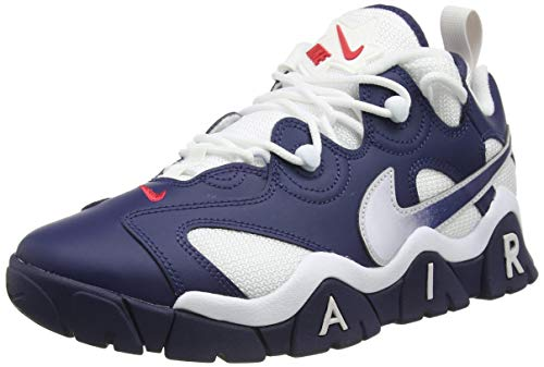 Nike Air Barrage Low, Zapatillas de bsquetbol Hombre, Midnight Navy Midnight Navy White Univ Red Vast Grey, 43 EU