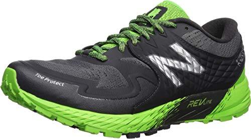 New Balance Summit KOM, Zapatillas de Running para Asfalto Hombre, Negro (Phantom/RGB Green/Silver Metallic GG), 41.5 EU