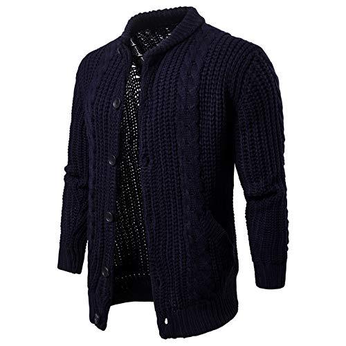 WLZQ Chaqueta De Suéter para Hombre Chaqueta De Punto De Color Sólido para Hombre Chaqueta De Punto para Hombre Chaqueta De Punto para Hombre Chaqueta Informal