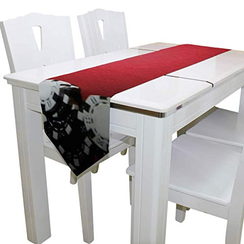 N/A Eettafel Runner Of Dresser Sjaal, Poker Wallpapers Deck Tafelkleed Runner Koffie Mat voor Bruiloft Partij Banket Decoratie 13 x 90 inch