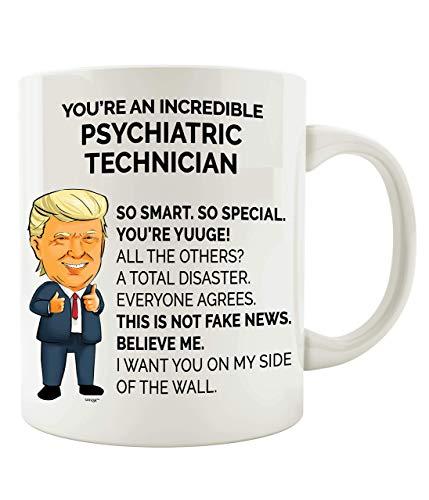 Taza de porcelana con diseño de técnico psiquiátrico de 330 ml, taza de té para beber, hombres y mujeres, ideal como regalo de Navidad, taza de café personalizada de porcelana y leche de cumpleaños
