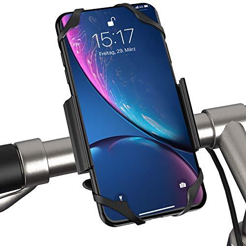 ipow Fahrrad Handyhalterung, universal Fahrrad Motorrad Handyhalter Fit 3,5-7 Zoll Smartphones, 360 Grad drehbar für Face ID/Touch ID