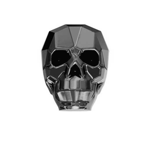 13mm Swarovski Kristall Perlen Totenkopf silber Nacht Stückzahl 1x 2
