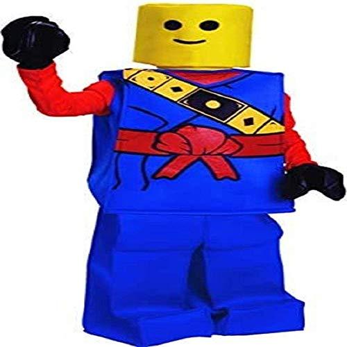 Dress Up America- Halloween Bambini Block Vestito da Uomo Ninja Man Costume Blu, taglia 8-10 anni (vita: 76-82, altezza: 114-127 cm), 873-B