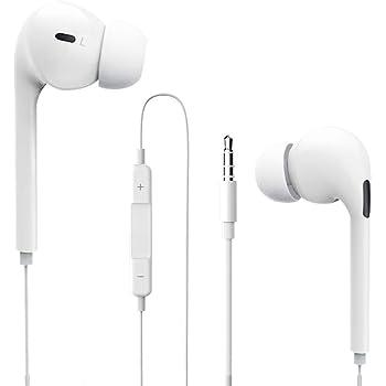 有線イヤホン 【進化版】 イヤフォン カナル型 マイク付き Hi-Fi 重低音 リモコン 3.5mm ジャック ヘッドホン ハイレゾ 音量調整 遮音 騒音低減 音漏れ防止 攜帯 スマホ iPhone/Android/PC/ipodなど (白)