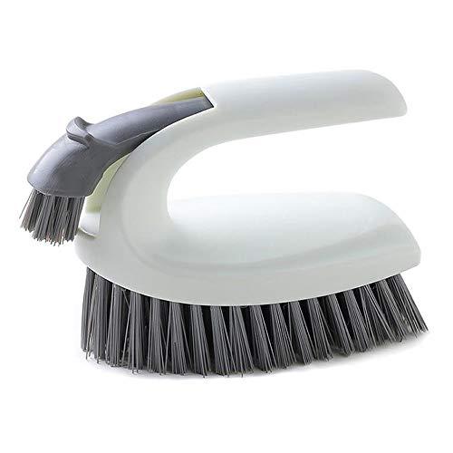 Reinigungsbürste,2 in 1 Scheuerbürste von Bürste im Küchen-Teppich Fugenbürste Bad