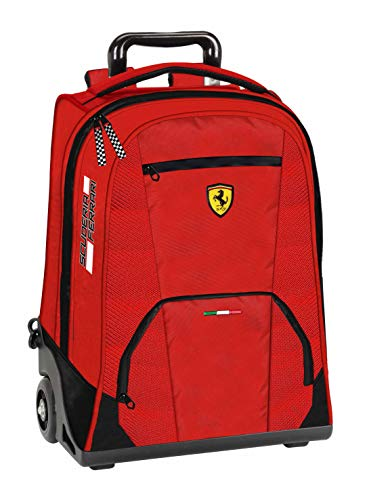 Panini 60987 - Zaino Trolley Ferrari Scuderia Rosso - Licenza Ufficiale Scuola 2019/20