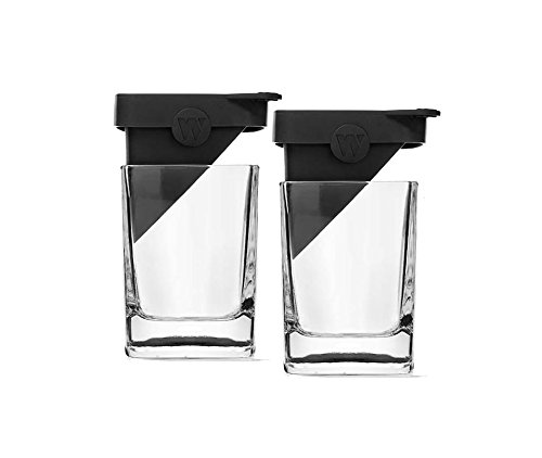 Image of the Corkcicle Whiskey Wedge (2 Double Old Fashioned Glass + 2 Silicone Ice Form)