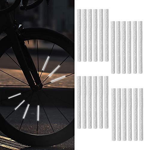 Bicicleta Radios Reflector Reflectante Clip De Bicicleta Visibilidad De Bicicleta De Montaña Cubierta De Radios De Material Reflectante Banda De Advertencia Accesorios De Seguridad Al Montar