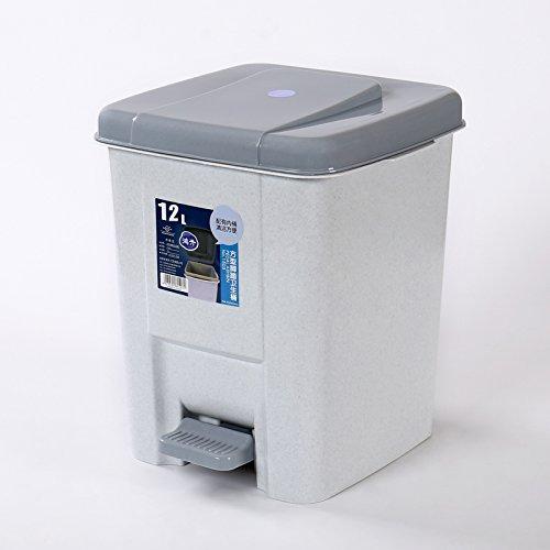 Trash en plastique Accueil Salon Chambre Chambre Salle de bain ( Couleur : Silver , style : Carré )
