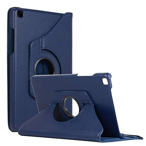 RZL PAD & TAB cases For Samsung Galaxy Tab A 8.0, Tablet Cover 360 Rotating PU Leather Cover For Samsung Galaxy Tab A 8.0 2019 T290 T295 T297 SM-T290 SM-T295 SM-T297 (Color : Deep blue)