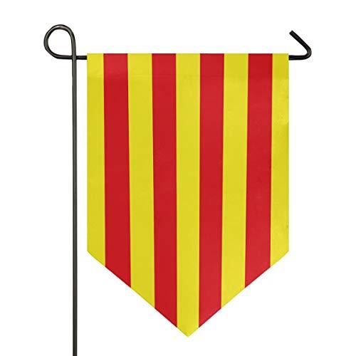 All3DPrint Bandera de Catalua para jardn, impermeable para exteriores, 71 x 101 cm.