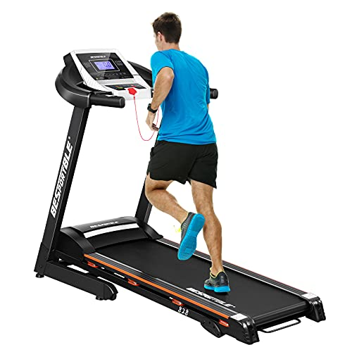 BESPORTBLE Folding Treadmill, 3.25HP Electric Treadmill for Home 12 Programs Walking & Running Machine, 3 Incline Slope, 242 lb Capacity, LCD Display, Easy Assembly & Space Saving