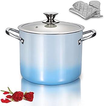 LovoIn 7 Qt Nonstick Soup Pasta Pot with Lid