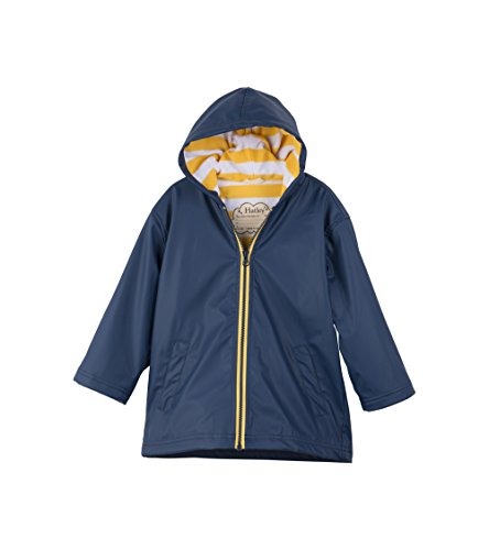 Hatley Boys' Big Splash Jacket, Navy/Yellow, 7