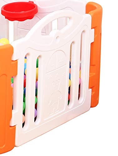 Clamaro 'Crazy Zoo' 1 Stück extra Seitenteil für Clamaro Baby Laufstall 'Crazy Zoo', aus wetterfestem und UV-beständigem Kunststoff, Stück Maß (LxH): ca. 80 cm x 69 cm