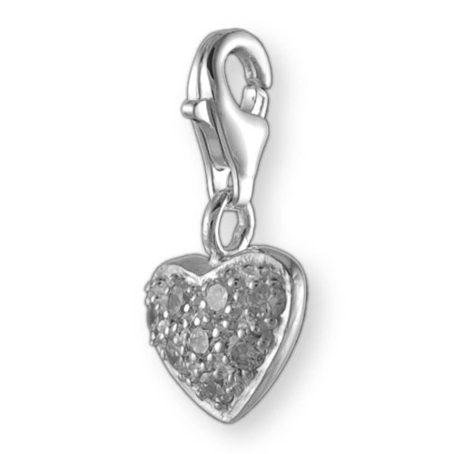 MELINA colgante corazón de plata 925 circonios