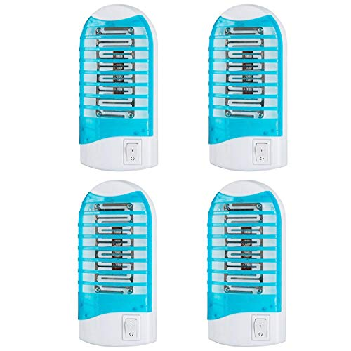 Maxtrv 4 Pack Plug in Electronic Lure lamp pest Control eliminates Flying pests gnat trep Indoor with Night Light