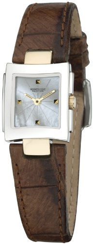 Kenneth Cole KC2389 - Reloj analógico de mujer de cuarzo con correa de piel marrón