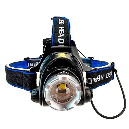 Hehuanxiao Linterna frontal LED Yunmai Power Led Faro Impermeable Linterna frontal 4000 Lumen Linterna de Caza Luz Pesca