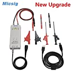 Micsig DP10013 Differential High Voltage Probe, 1300V 100MHz 3.5ns Rise Time 50X/500X Attenuation Rate, Tektronix P5200A P5205A P5210A