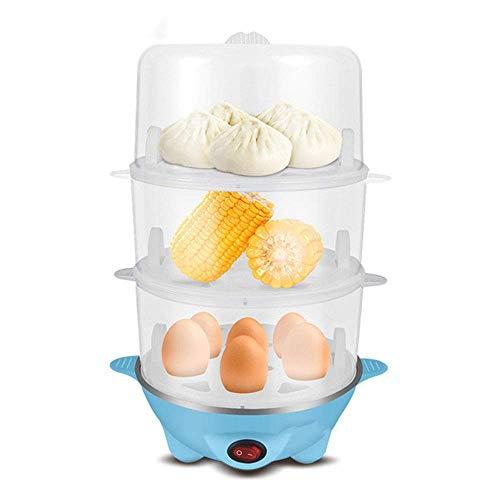 Cocina de Huevo de Doble Ayer Mini Mini, maquina de Desayuno, Apagado automatico de Acero Inoxidable, se Puede cocinar al Vapor y cocinar kshu