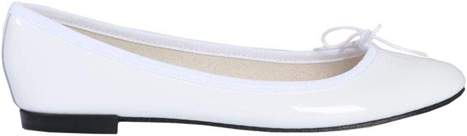 Repetto Women's V086VLUX050 White Leather Flats